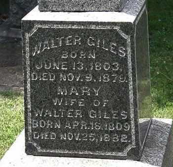 GILES, WALTER - Lorain County, Ohio | WALTER GILES - Ohio Gravestone Photos