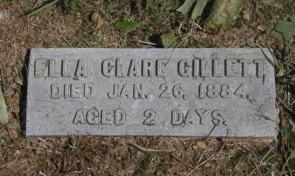 GILLETT, ELLA CLARE - Lorain County, Ohio | ELLA CLARE GILLETT - Ohio Gravestone Photos