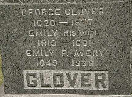 GLOVER, EMILY - Lorain County, Ohio | EMILY GLOVER - Ohio Gravestone Photos