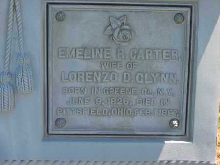 CARTER GLYNN, EMELINE R. - Lorain County, Ohio | EMELINE R. CARTER GLYNN - Ohio Gravestone Photos