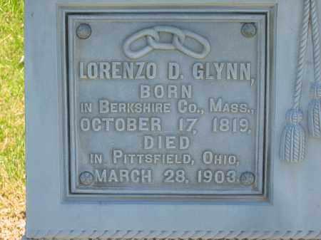 GLYNN, LORENZO D. - Lorain County, Ohio | LORENZO D. GLYNN - Ohio Gravestone Photos