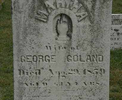 GOLAND, GEORGE - Lorain County, Ohio | GEORGE GOLAND - Ohio Gravestone Photos