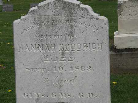 GOODRICH, HANNAH - Lorain County, Ohio | HANNAH GOODRICH - Ohio Gravestone Photos