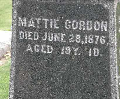 GORDON, MATTIE - Lorain County, Ohio | MATTIE GORDON - Ohio Gravestone Photos