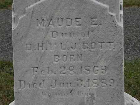 GOTT, MAUDE E. - Lorain County, Ohio | MAUDE E. GOTT - Ohio Gravestone Photos