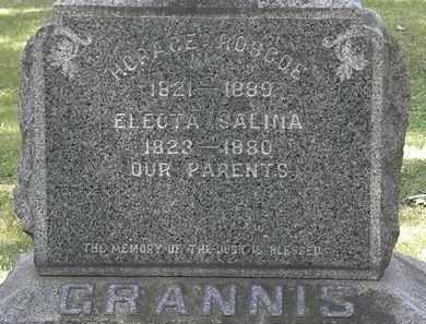 GRANNIS, HORACE ROSCOE - Lorain County, Ohio | HORACE ROSCOE GRANNIS - Ohio Gravestone Photos