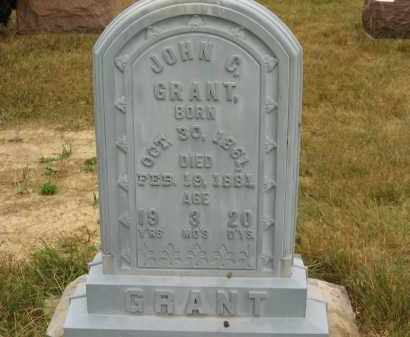 GRANT, JOHN C. - Lorain County, Ohio | JOHN C. GRANT - Ohio Gravestone Photos
