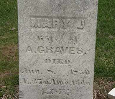 GRAVES, MARY J. - Lorain County, Ohio | MARY J. GRAVES - Ohio Gravestone Photos