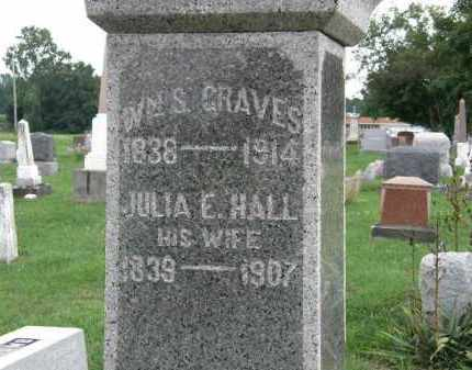 HALL GRAVES, JULIA E. - Lorain County, Ohio | JULIA E. HALL GRAVES - Ohio Gravestone Photos