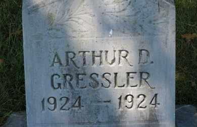 GRESSLER, ARTHUR D. - Lorain County, Ohio | ARTHUR D. GRESSLER - Ohio Gravestone Photos