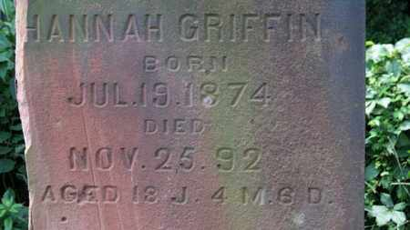 GRIFFIN, HANNAH - Lorain County, Ohio | HANNAH GRIFFIN - Ohio Gravestone Photos
