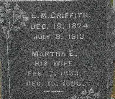 GRIFFITH, E. M. - Lorain County, Ohio | E. M. GRIFFITH - Ohio Gravestone Photos