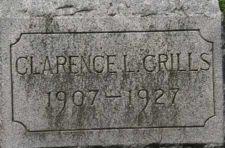 GRILLS, CLARENCE L. - Lorain County, Ohio   CLARENCE L. GRILLS - Ohio Gravestone Photos