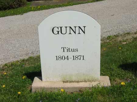 GUNN, TITUS - Lorain County, Ohio | TITUS GUNN - Ohio Gravestone Photos