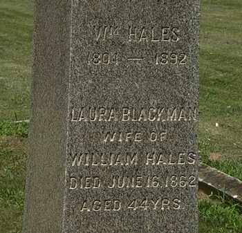 BLACKMAN HALES, LAURA - Lorain County, Ohio | LAURA BLACKMAN HALES - Ohio Gravestone Photos