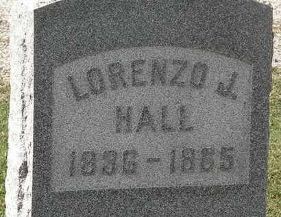 HALL, LORENZO - Lorain County, Ohio | LORENZO HALL - Ohio Gravestone Photos