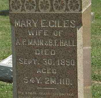 GILES HALL, MARY E. - Lorain County, Ohio | MARY E. GILES HALL - Ohio Gravestone Photos