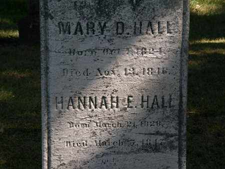 HALL, MARY D. - Lorain County, Ohio | MARY D. HALL - Ohio Gravestone Photos