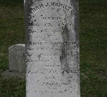 HAMILTON, SARAH J. - Lorain County, Ohio | SARAH J. HAMILTON - Ohio Gravestone Photos