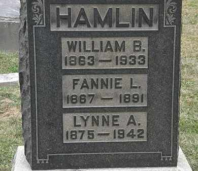 HAMLIN, WILLIAM B. - Lorain County, Ohio | WILLIAM B. HAMLIN - Ohio Gravestone Photos