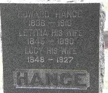 HANCE, EDWARD - Lorain County, Ohio | EDWARD HANCE - Ohio Gravestone Photos
