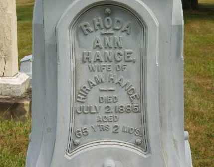 HANCE, HIRAM - Lorain County, Ohio | HIRAM HANCE - Ohio Gravestone Photos