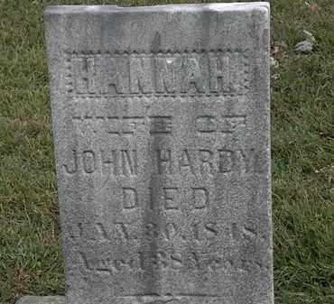 HARDY, HANNAH - Lorain County, Ohio | HANNAH HARDY - Ohio Gravestone Photos