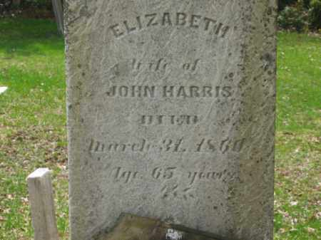 HARRIS, ELIZABETH - Lorain County, Ohio | ELIZABETH HARRIS - Ohio Gravestone Photos