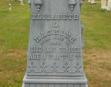 HASKINS, ELIZABETH L. - Lorain County, Ohio | ELIZABETH L. HASKINS - Ohio Gravestone Photos