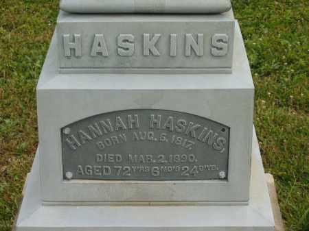 HASKINS, HANNAH - Lorain County, Ohio | HANNAH HASKINS - Ohio Gravestone Photos