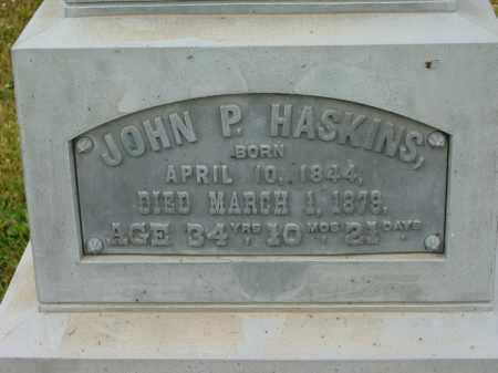 HASKINS, JOHN P. - Lorain County, Ohio | JOHN P. HASKINS - Ohio Gravestone Photos