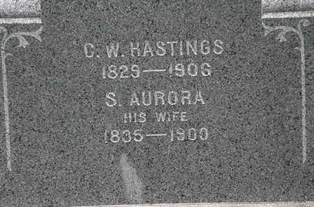 HASTINGS, S. AURORA - Lorain County, Ohio | S. AURORA HASTINGS - Ohio Gravestone Photos