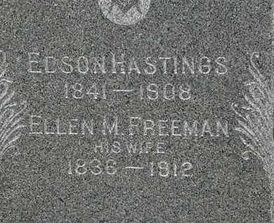 FREEMAN HASTINGS, ELLEN M. - Lorain County, Ohio | ELLEN M. FREEMAN HASTINGS - Ohio Gravestone Photos