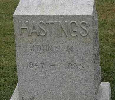 HASTINGS, JOHN M. - Lorain County, Ohio | JOHN M. HASTINGS - Ohio Gravestone Photos