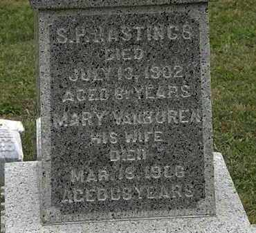 VANBUREN HASTINGS, MARY - Lorain County, Ohio | MARY VANBUREN HASTINGS - Ohio Gravestone Photos