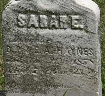 HAYNES, SARAH E. - Lorain County, Ohio | SARAH E. HAYNES - Ohio Gravestone Photos
