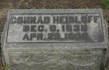 HEIDLOFF, CONRAD - Lorain County, Ohio | CONRAD HEIDLOFF - Ohio Gravestone Photos