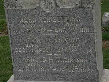 HEINZERLING, ANNA E. - Lorain County, Ohio | ANNA E. HEINZERLING - Ohio Gravestone Photos