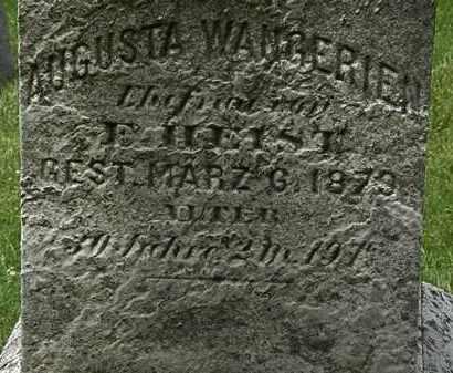 WANGERIEN HEIST, AUGUSTA - Lorain County, Ohio | AUGUSTA WANGERIEN HEIST - Ohio Gravestone Photos