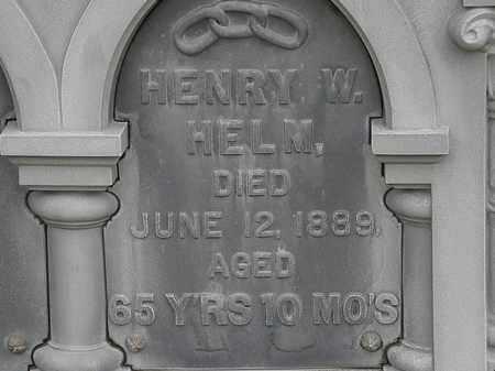 HELM, HENRY W. - Lorain County, Ohio | HENRY W. HELM - Ohio Gravestone Photos