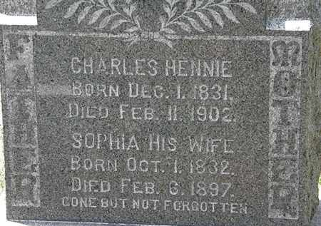 HENNIE, CHARLES - Lorain County, Ohio | CHARLES HENNIE - Ohio Gravestone Photos