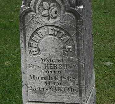 HERSHEY, GEO. - Lorain County, Ohio | GEO. HERSHEY - Ohio Gravestone Photos