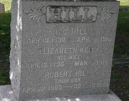 HILL, ELIZABETH - Lorain County, Ohio | ELIZABETH HILL - Ohio Gravestone Photos