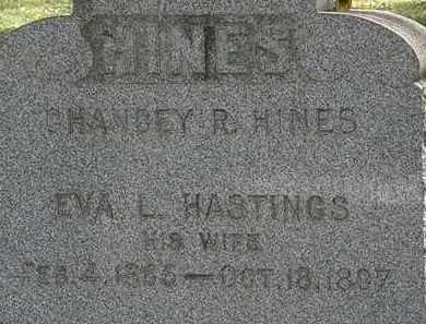 HASTINGS HINES, EVA L. - Lorain County, Ohio | EVA L. HASTINGS HINES - Ohio Gravestone Photos