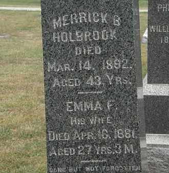 HOLBROOK, MERRICK B. - Lorain County, Ohio | MERRICK B. HOLBROOK - Ohio Gravestone Photos
