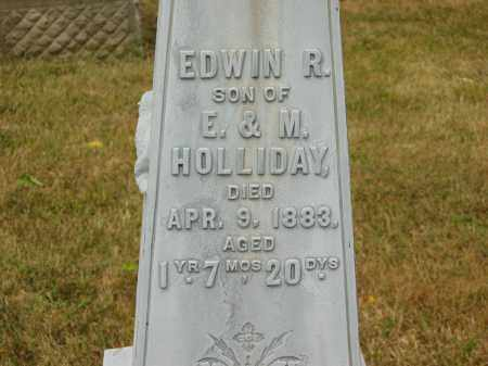 HOLLIDAY, EDWIN R. - Lorain County, Ohio | EDWIN R. HOLLIDAY - Ohio Gravestone Photos