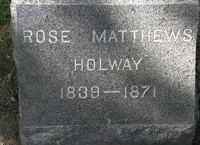 HOLWAY, ROSE - Lorain County, Ohio | ROSE HOLWAY - Ohio Gravestone Photos