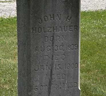 HOLZHAUER, JOHN - Lorain County, Ohio | JOHN HOLZHAUER - Ohio Gravestone Photos