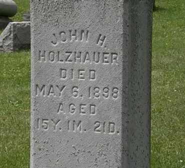 HOLZHAUER, JOHN H. - Lorain County, Ohio | JOHN H. HOLZHAUER - Ohio Gravestone Photos