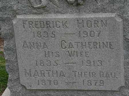 HORN, ANNA CATHERINE - Lorain County, Ohio | ANNA CATHERINE HORN - Ohio Gravestone Photos